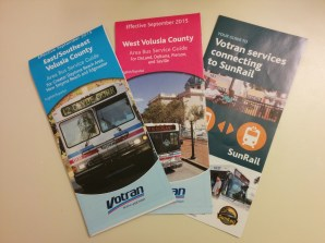 Current Booklets. These are broken down into West County (DeLand, Deltona), East/Southeast County (Daytona, Port Orange), and SunRail Feeders (Routes 31, 32, and 33).