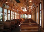 The neat thing about the Gomaco trolleys is that they are air conditioned, look just like the old-style trolley cars, and the seats even reverse! Absolutely dazzling! Photo courtesy of Shawn B.