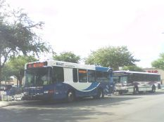 #2223 at Britton Plaza with one of the 1997-series Gillig Phantoms trailing behind. Photo taken by HARTride 2012. June, 2009. Released into the Public Domain (Used on Wikipedia).