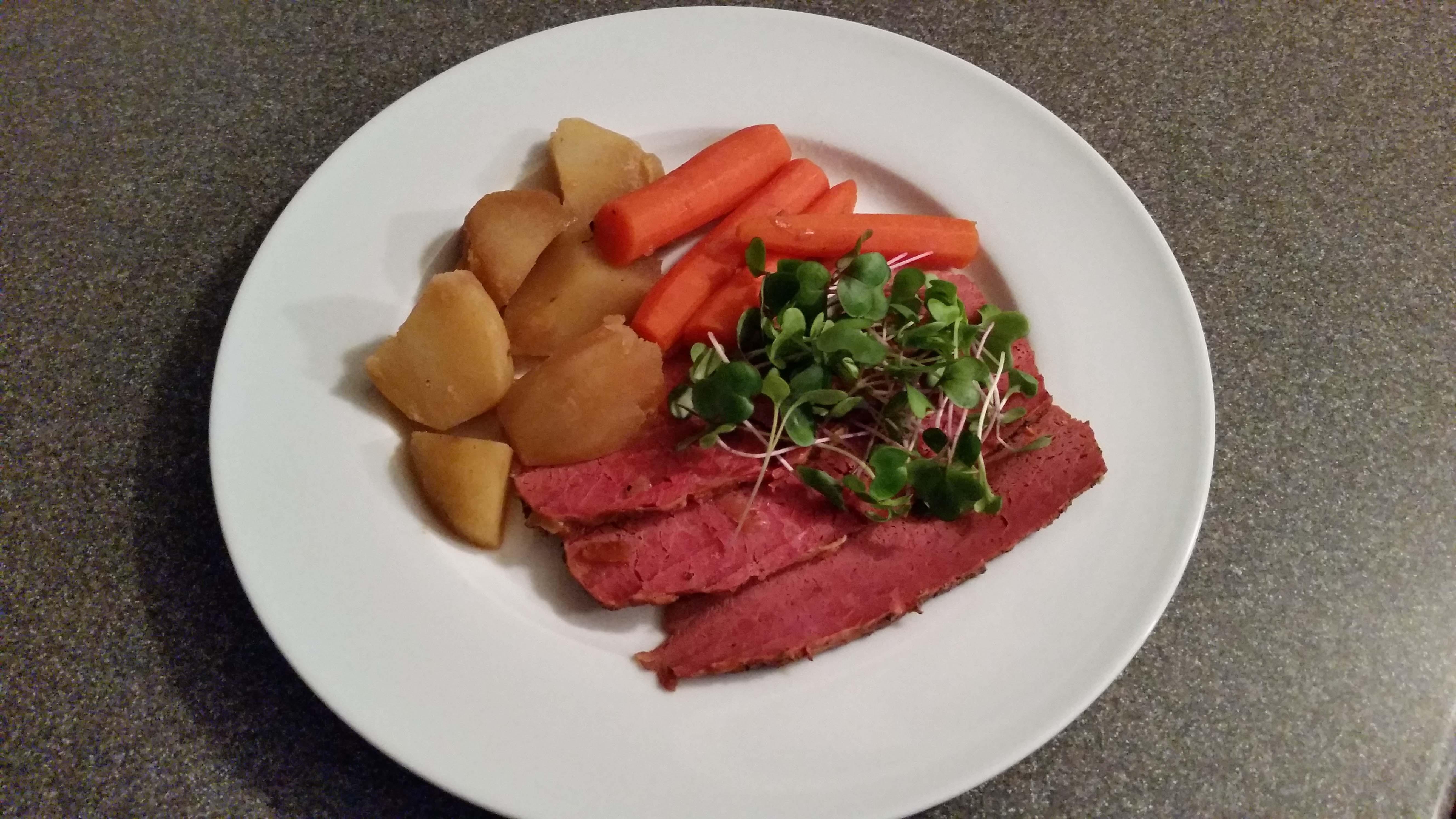 corned beef dinner