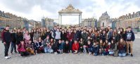 Students from Harstown Community School on a school trip to Paris