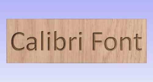Showing what calibri font looks like