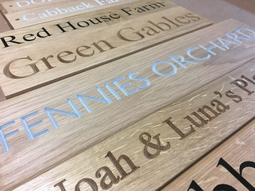 sample of signs made for customers
