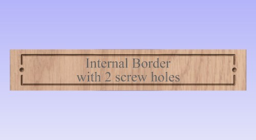 showing internal border with 2 screw holes