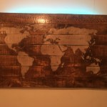 Backlit World Map Wall Art Sold Cerf Savage Studios