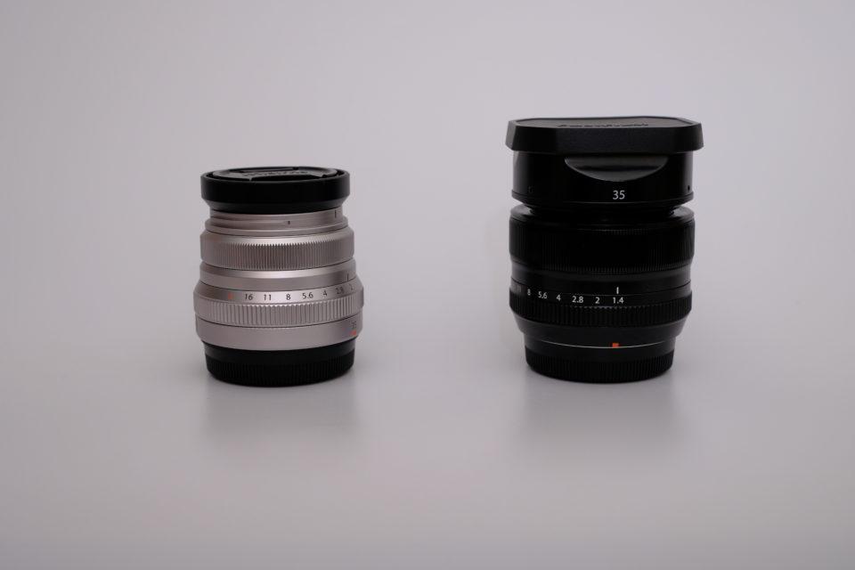 XF35mm F2 R WR, XF35mm F1.4 R,比較