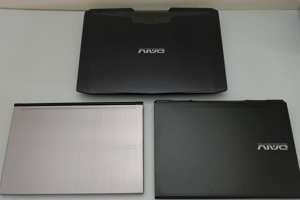 DAIV ノートパソコン 大きさ 比較