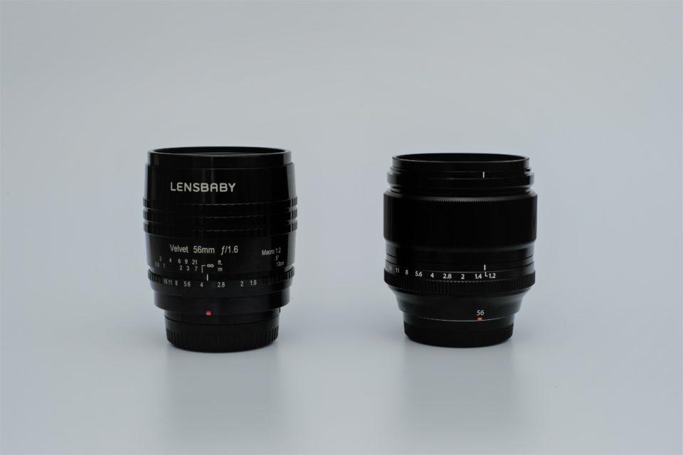 LENSBABY Velvet 56 XF56mm 比較
