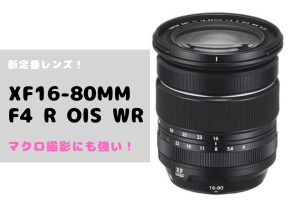 XF16-80mmF4 R OIS WR レビュー ブログ