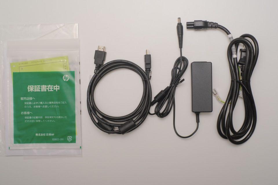 HP 27f 4K,付属品,HDMI