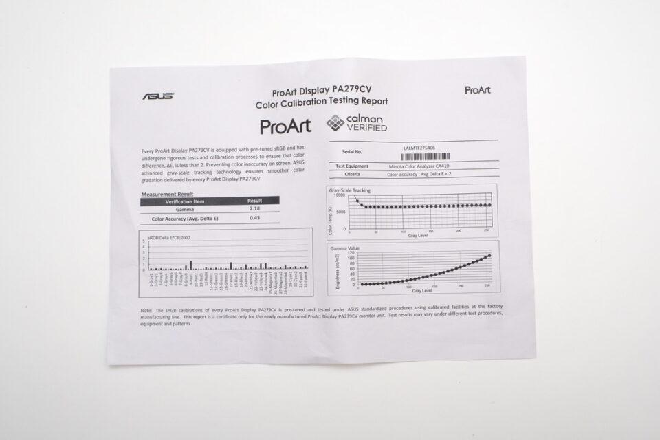 ASUS ProArt Display PA279CV,画質,感想,キャリブレーション