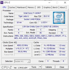 DAIV 4P,マウスコンピューター,CPU性能,Core i7-1175G7,ベンチ