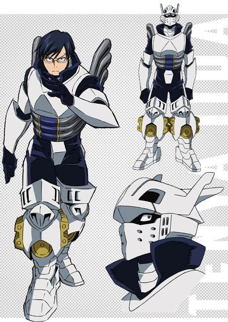 Boku no Hero Academia Hero suit character designs Tenya Iida