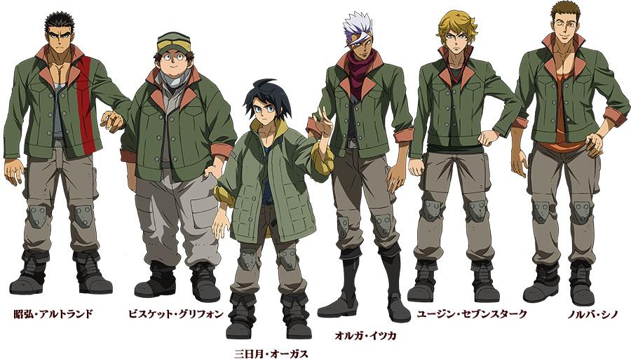 Mobile-Suit-Gundam-Tekketsu-no-Orphans-Characters