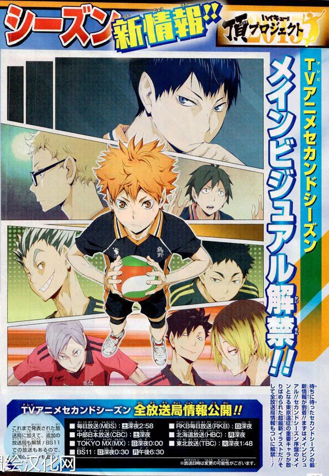New Haikyuu!! Second Season Visual Revealed