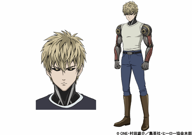One Punch Man Genos character designs