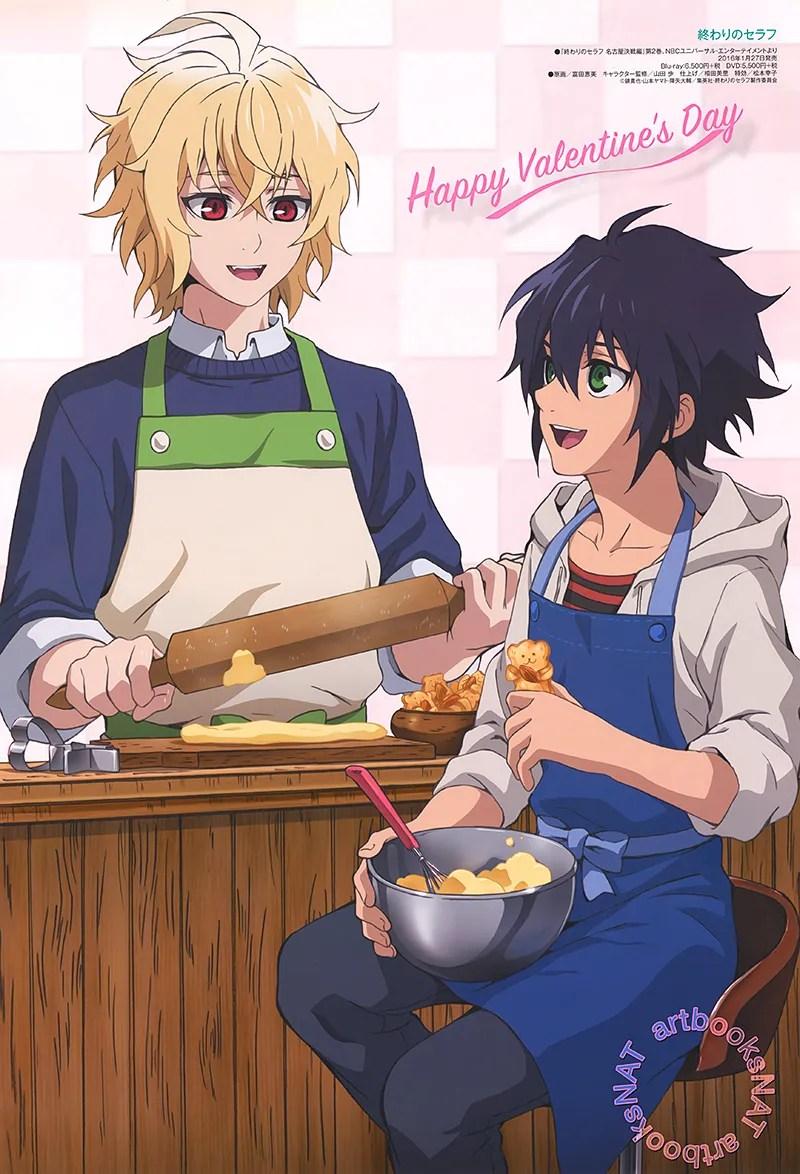 Owari no Seraph Valentine's Day anime poster