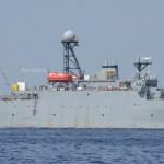 横浜港に変わった艦影。音響測定艦、大集合?