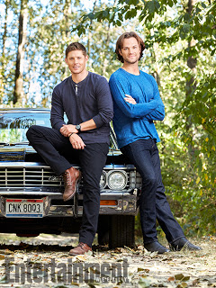 SUPERNATURAL Jensen Ackles and Jared Padalecki photographed on the Supernatural set in Vancouver, Canada on August 23, 2016 Photograph by Matthias Clamer Hair: Jennifer Manton; Makeup: Trisha Porter; Wardrobe: Kerry Weinrauch; Props: Karolina Grant; Production: Susan Milne