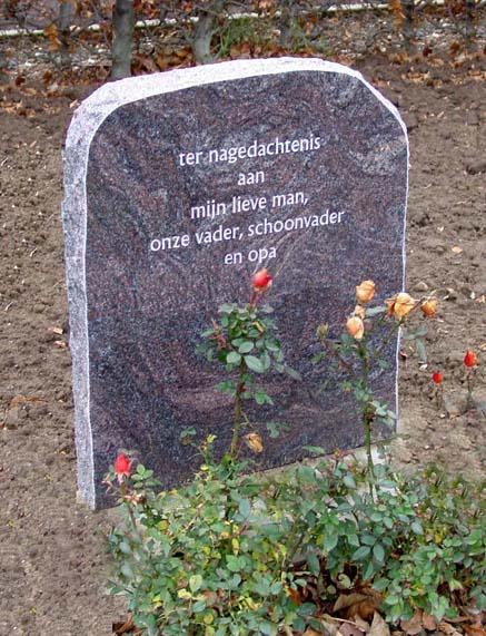 Gedenkteken Paradiso graniet ruw bekapt A016