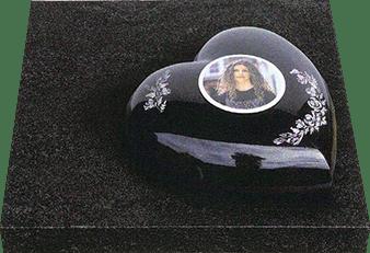 Foto op grafsteen of urn