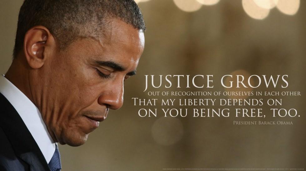 Obama on justice