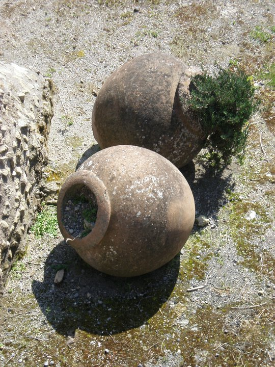 Two pots in the street