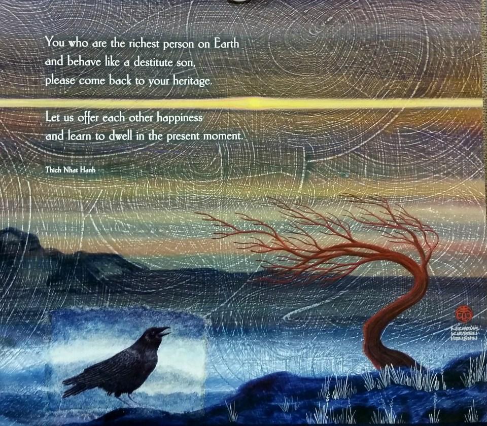 Brother Raven and Eye of Sky | Artwork by Nicholas Kirsten-Honshin | honshinfineart.com