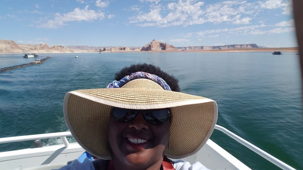 Boat ride of Lake Powell in Page, AZ