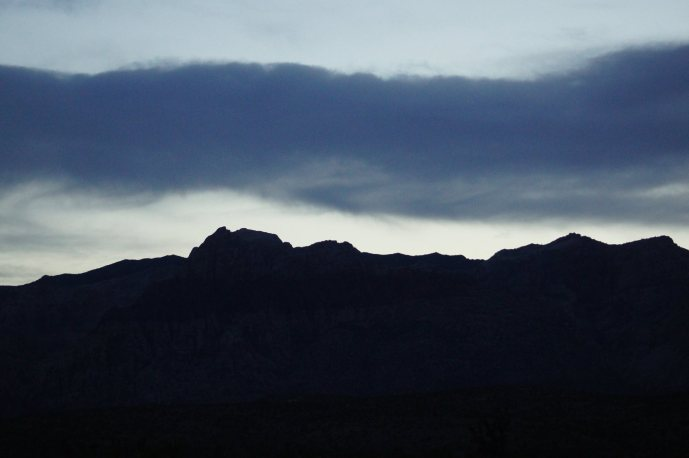 """2014 Photo Challenge, Week 20 Submission: Landscape – Minimalist """"After sunset"""" Red Rock Canyon, NV (Finally! Wide open space! ;) ) Sony A33, F4.5, 1/160 sec, ISO 1250, 85mm; no treatment"""