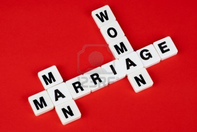 red sign 14411700-man-woman-and-marriage-words-on-red-background