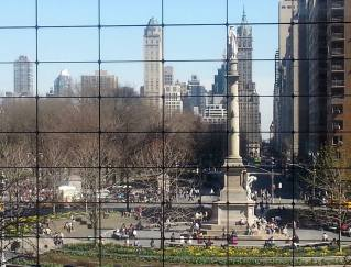 Photo Challenge, Week 14: Rule of Thirds: Circle in the Squares Statue of Christopher Columbus in Columbus Circle, NYC. I had planned on using a photo from another setting all week, but shot this today (smartphone) while walking around and couldn't pass up sharing the grid shot for this challenge. Used Microsoft ICE to composite several photos. No other treatments.