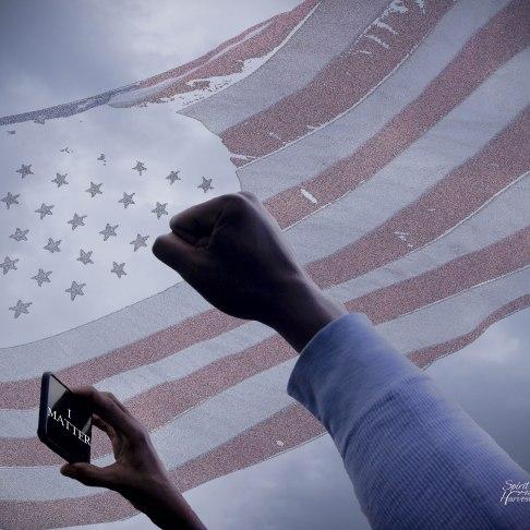 America, I Matter! Baltimore City Hall Baltimore Rally for Freddie Gray May 2, 2015 Digital image. Post-process editing. Photo by LaShawnda Jones