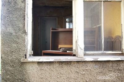 Looking through porch window