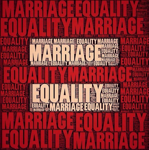 red sign Marriage-Equality-Words