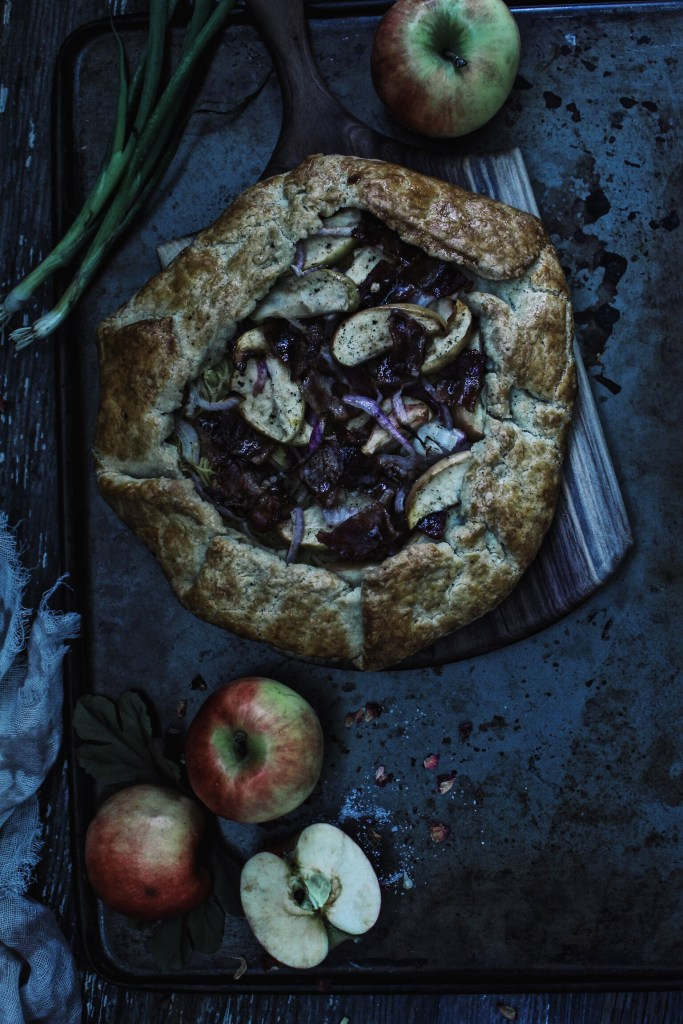 Apple and Squash Galette with Pumpkin Spice Bacon