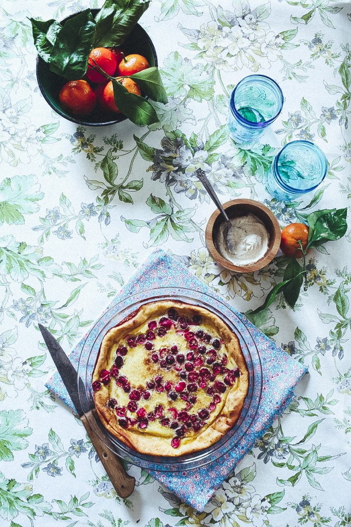 Cranberry and Mandarin Clafoutis