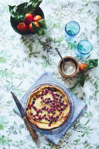 easy cranberry clafoutis