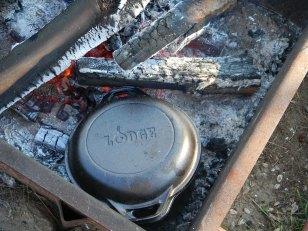 Dutch Oven in coals