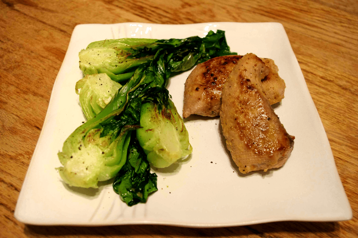 Orange Glazed Tuna with Baby Bok Choy