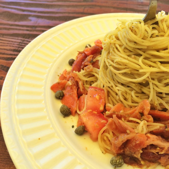 Smoked Salmon Pesto Pasta