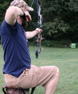 Shooting the Bow while seated