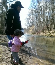 Fishing with his Granddaughter