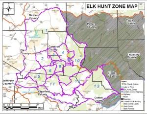 PA Elk Hunting Zones