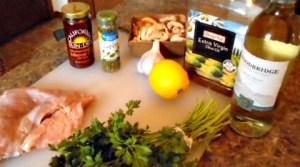 Wild turkey Pasta Ingredients
