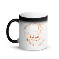 Matte Black Running Deer Magic Mug