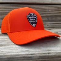 Orange Mesh Snap Back Logo Hat