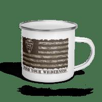 Camo American Flag Enamel Mug