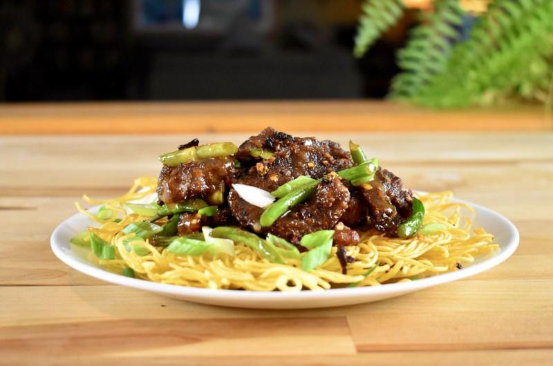 Crispy Venison Chow Mein