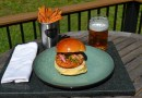 Blackened Smoked Salmon Burgers with Duck Fat Fries